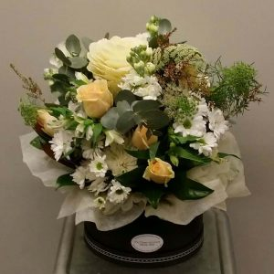 Flower Bouquet in a Black Vase