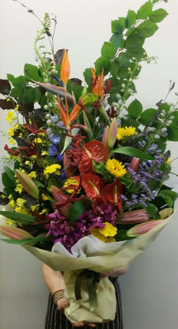 large bouquet of different flowers