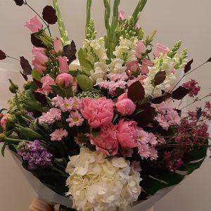 Pink with White Flower Bouquet Arrangement