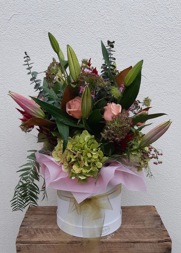 Round Boxed flowers - image M.D.24-600x835 on https://theflowermerchant.com.au