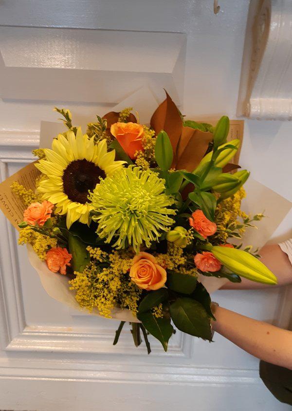 Sunflower bright bouquet - image M.D.26-600x844 on https://theflowermerchant.com.au